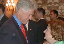 President Clinton at the Shorenstein Center conference.