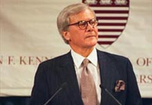 Tom Brokaw gives the T.H. White Lecture.
