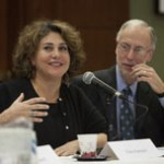 Elaine Kamarck and Dan Balz.