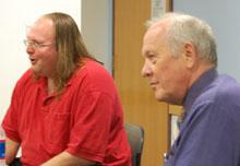 Ethan Zuckerman and Shorenstein Center director Alex S. Jones.
