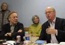 Thomas E. Patterson and The Economist's Matthew Bishop.
