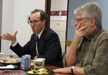 Joel Simon (left) and Richard Parker, Lecturer in Public Policy.