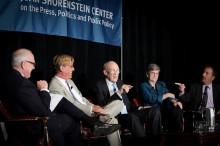 Alex S. Jones, Aaron Sorkin, Sen. Al Simpson, Kathleen Hall Jamieson and Chuck Todd.