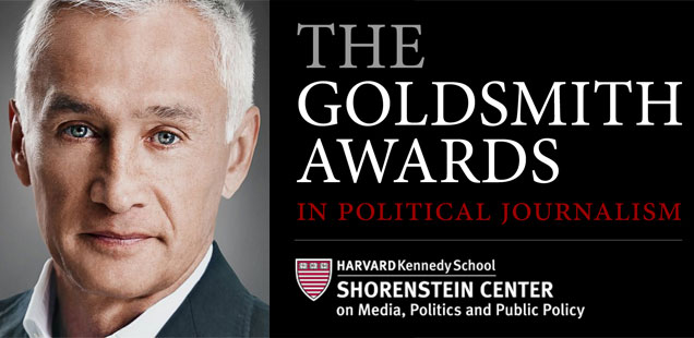 2017 Goldsmith Awards Ceremony with Keynote by Jorge Ramos: Live Stream at 6pm Eastern Time