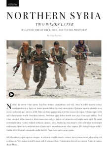 A mockup of the Return feature in The Commons, showing an article that revisits the situation in Northern Syria two weeks later.