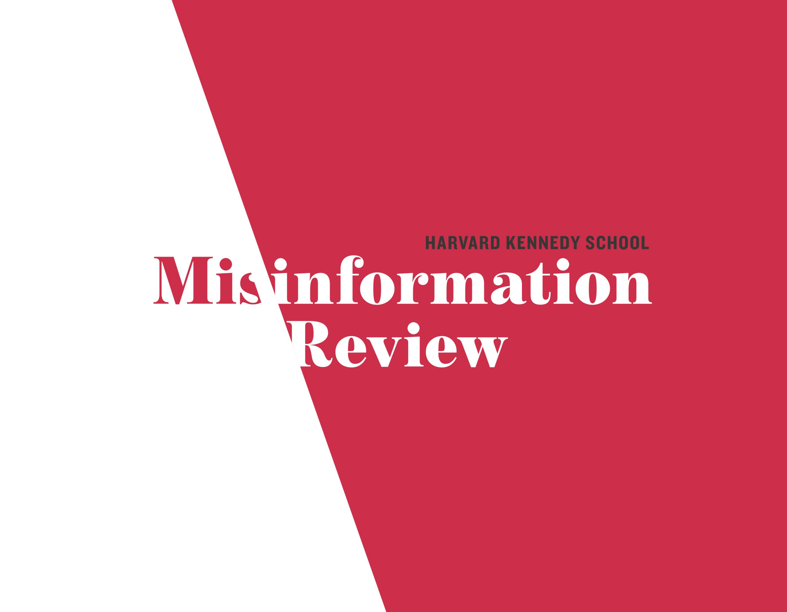 HKS Misinformation Review logo