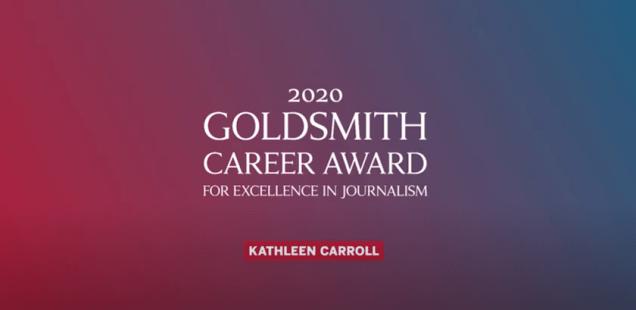 Kathleen Carroll: 2020 Goldsmith Career Award Winner