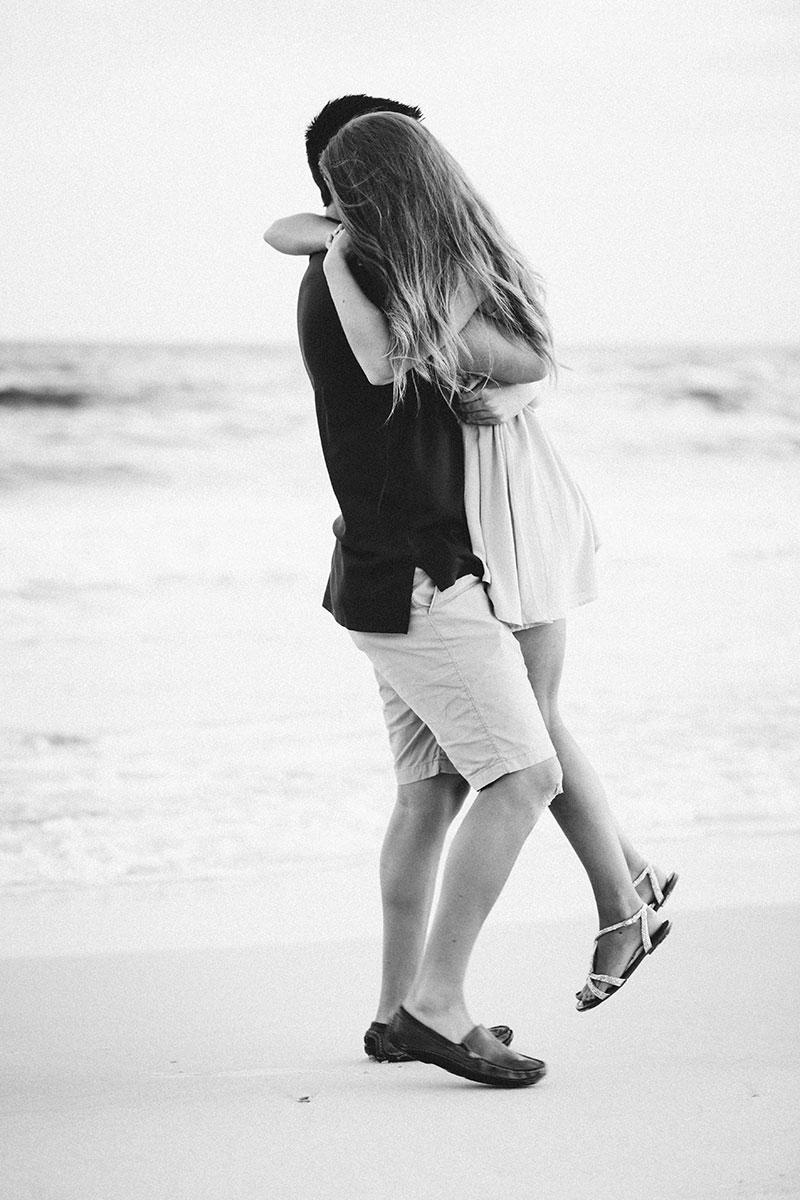 Gulf Shores Beach Photographer Surprise Proposal Beach Engagement