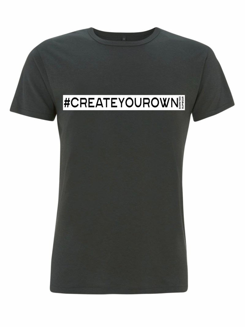 Mens Grey Create your own hashtag T-shirt