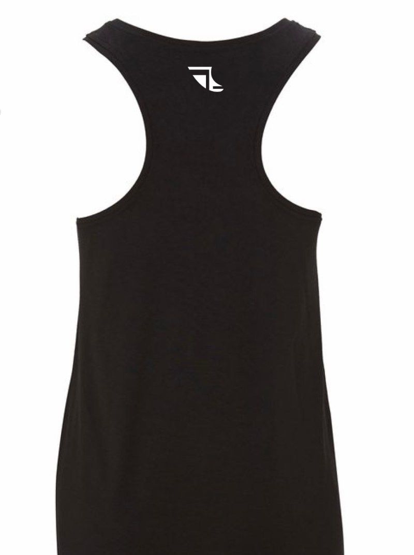 Rear of Ladies Black Bamboo Vest