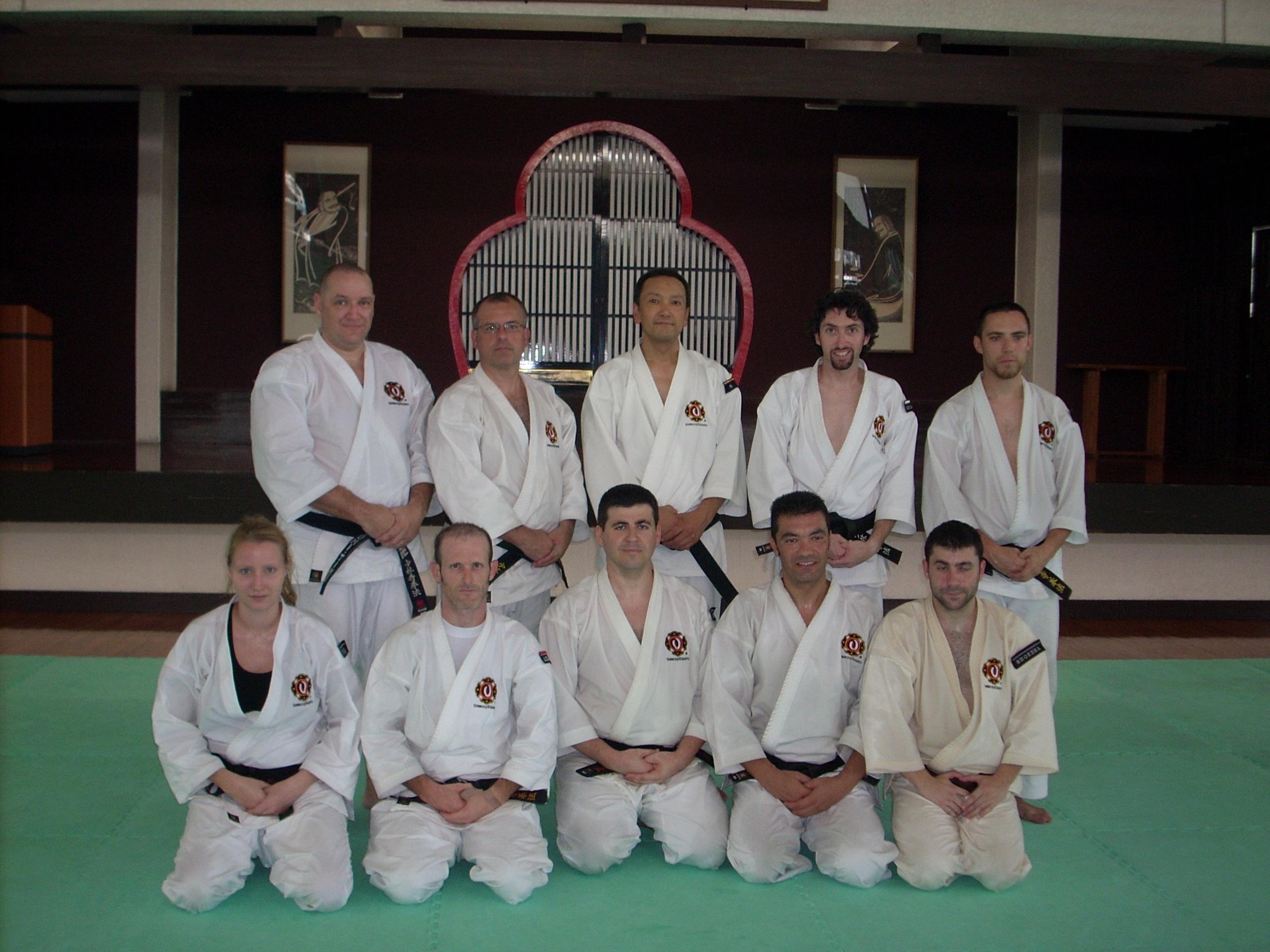 Con el maestro Sakashita (7º Dan)