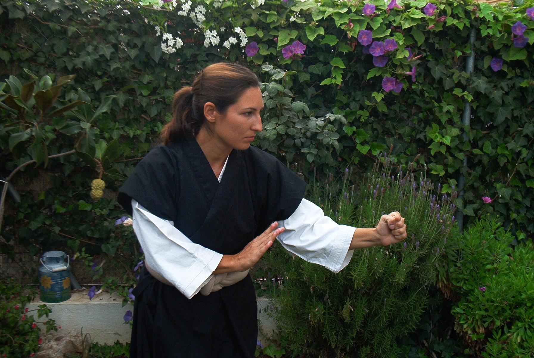 Isabel Perals (2º Dan) introdujo a Carlos en el Shorinji Kempo en el año 1986