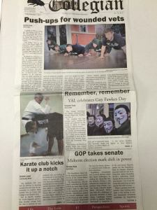 Karate Club Newspaper