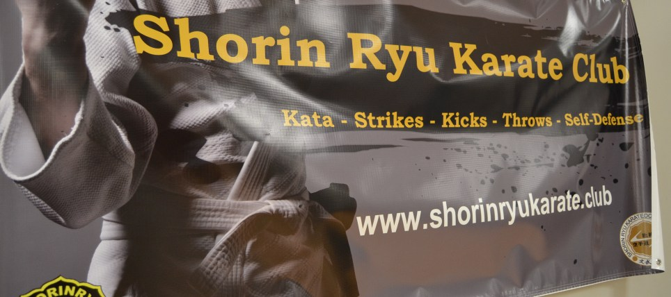grove city ymca shorin ryu karate academy banner