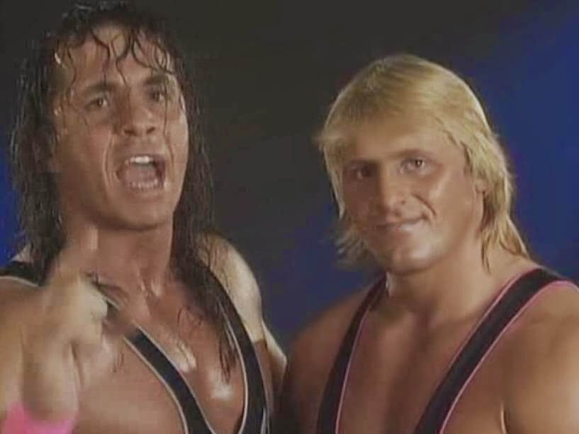 Bret Hart with his brother Owen Hart.