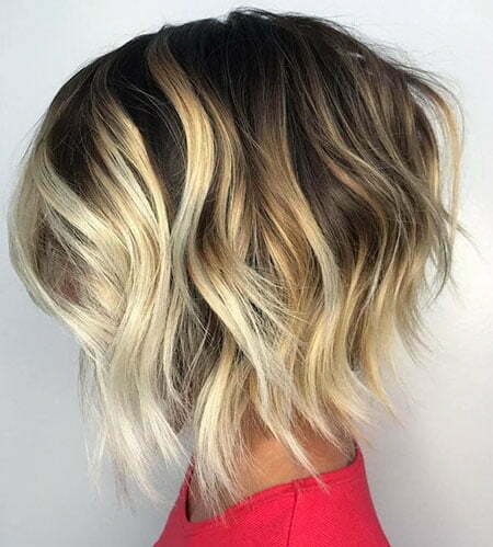 Wavy Blonde Balayage Highlights