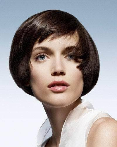 Modern Short Bob Haircut With Bangs