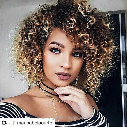 Pretty Spiral Curls For African American Women Short