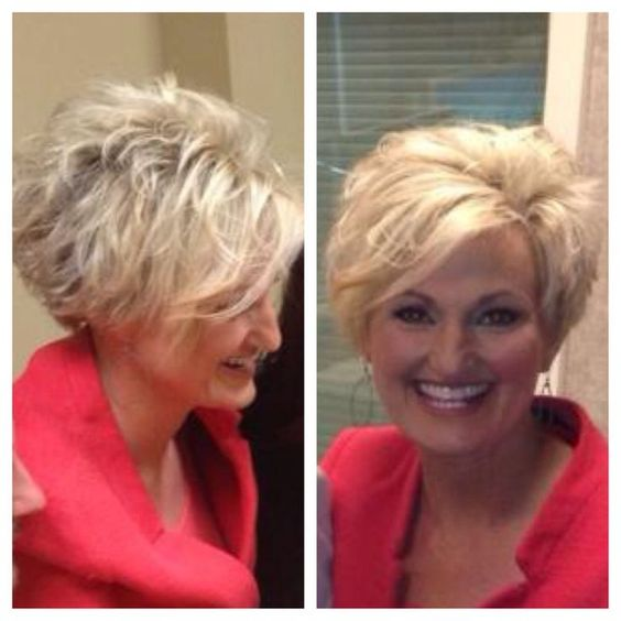 Messy Layered Wedge Haircut For Women Over 60 Short