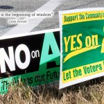 Yes on A, No on A (All about you!)