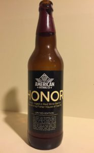 American Brewing Honor Saison Aged in Red Wine Barrels - Yum