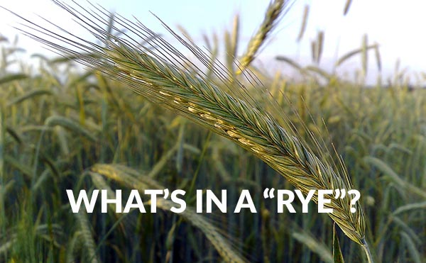 What's In A Rye beer ingredients