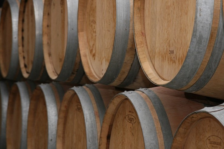 Wine barrels, sure; but maybe beer barrels, too?