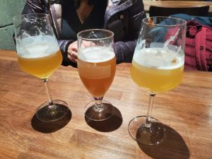 Three farmhouse beers from Fair Isle Brewing in Seattle