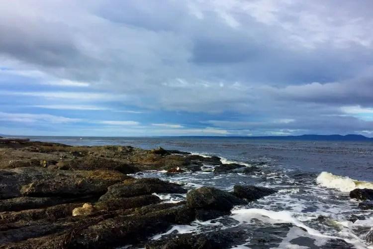 Coastline of Punta Arenas Chile