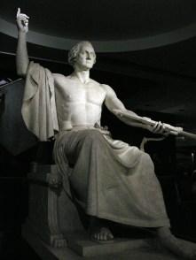 03. Corpo imperiale, scandaloso, ridicolo – nudo? Horatio Greenough, Statue of Washington (1841). National Museum of American History, Washington, D.C.