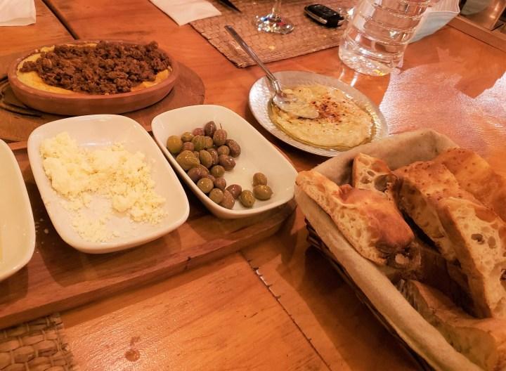 Hummus, Olives and Baba  Ganoush