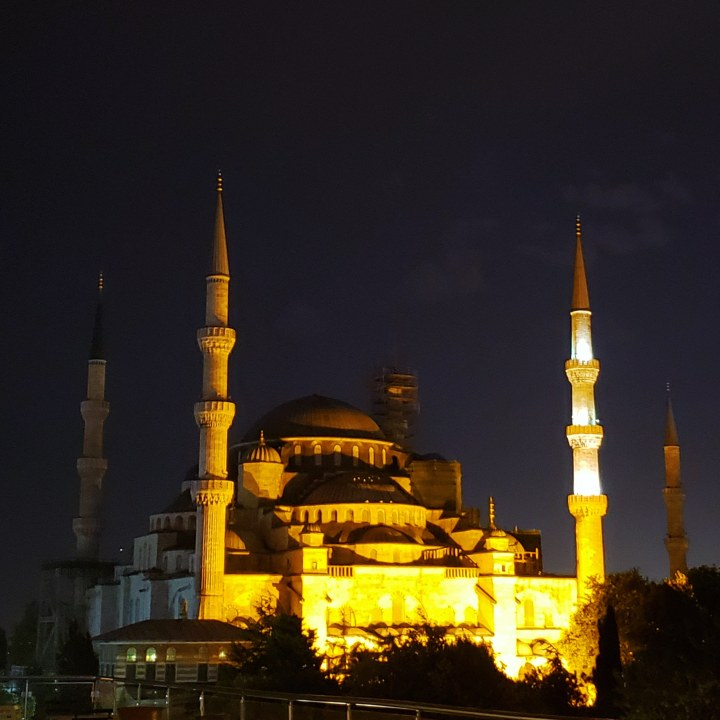 Blue Mosque from the Old House Restaurant Terrace