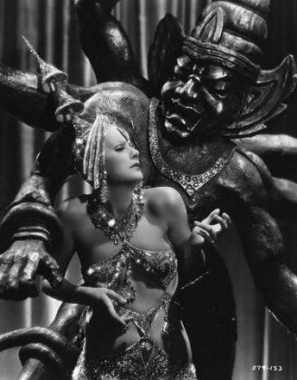 Still from the MGM film, 'Mata Hari,' which starred Garbo as the exotic dancer via Garbo Forever