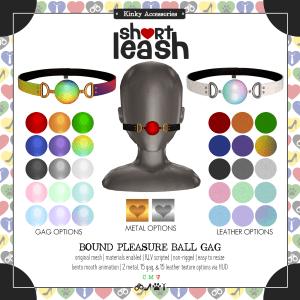 Short Leash Bound Pleasure Ball Gag ad