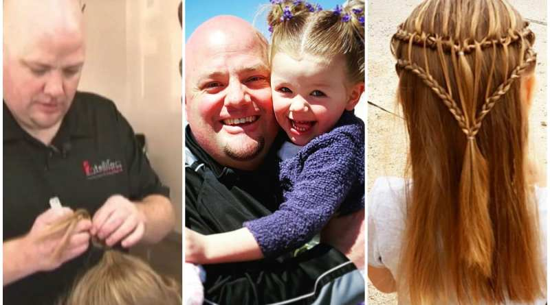 This Single Father Creates the Most Amazing Hairstyles for His Daughter