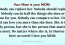 Moms are irreplaceable
