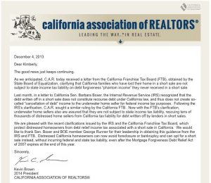 California Franchise Tax Board States No Taxes on Short Sales