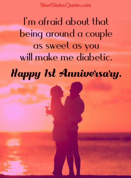 1st-Anniversary-Status-Wishes-for-a-Friendly-Couple