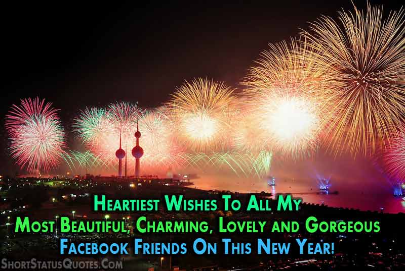 New Year Status for Facebook   Short New Year Messages Happy New Year Facebook Status for 2018