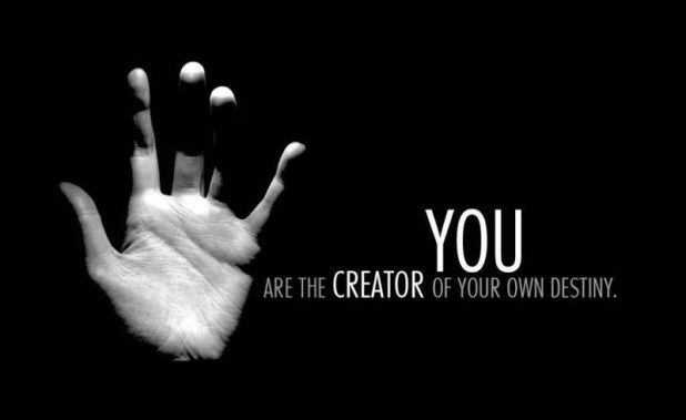 motivational-famous-short-quote-you-are-the-creator-of-your-own-destiny