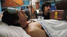 Adrien Brody in Darjeeling Limited, Owen Wilson (bandaged) & Jason Schwartzman