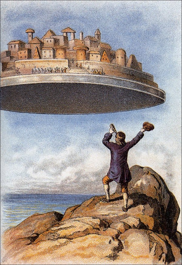 Gulliver's Travel's, A Satire: (3) Castle in the Sky, Head ...