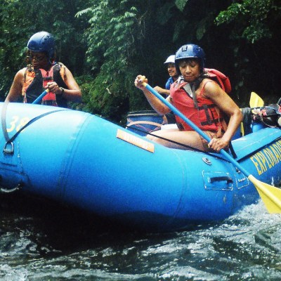 The Wild Pacuare River:  Capsizing and Surviving White Water Rafting in Costa Rica