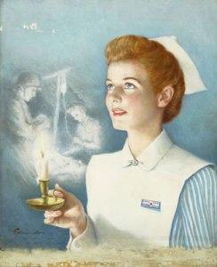 Nurse w lamp