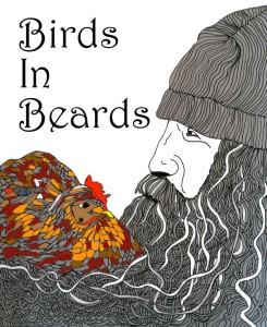 Birds in Beards Coloring Book by Shoshanah Marohn