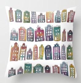 amsterdam houses pillow s6
