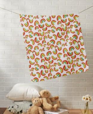 dancing rainbow baby blanket Z