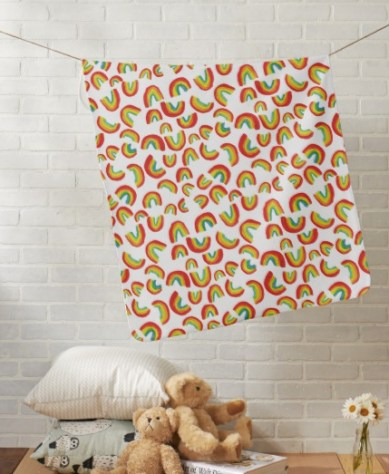 dancing rainbow baby blanket Z
