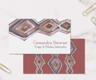 diamond watercolor business cards by Shoshannah