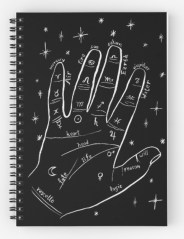 mystical hand notebook